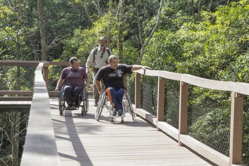 Trilha inclusiva Parque Ecológico Imigrantes